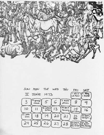 Jno Cook 1973 Calendar